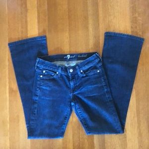 7 For All Mankind Jeans - 7 for All Mankind Bootcut Dark Wash Crystal Detail